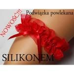 Červený dámský podvazek ROXY SILIKON