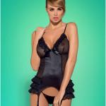 Korzet Blackbella corset XXL – Obsessive